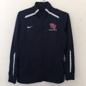 Nike men Jacket size Large Navy Blue